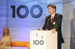 """Der wissenschaftliche Leiter von """"Top 100"""": Prof. Dr. Nikolaus Franke von der Wirtschaftsuniversität Wien bei der Preisverleihung am 1. Juli 2010 in Rostock-Warnemünde."""