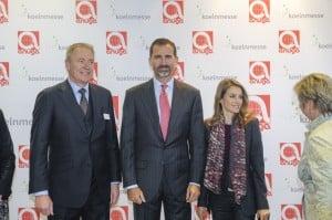 Rundgang mit S.K.H. Felipe, Fürst von Asturien und I.K.H. Letizia, Fürstin von Asturien, begleitet von Gerald Böse, Vorsitzender der Geschäftsführung der Koelnmesse. Foto: Koelnmesse