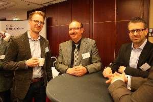 Sebastian Herrman (Reisner & Frank), Roland Stumm (MEIKO) und Eduard Dokter (BMW). Foto: Hattel/CM