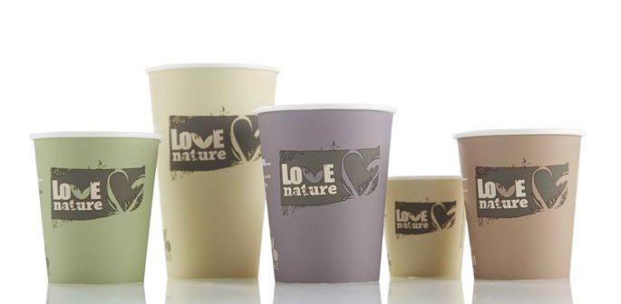 Das BioWare Hot Cup Sortiment von Huhtamaki