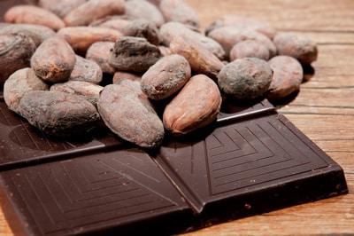 Kakaobohnen als Rohstoff der Schokolade