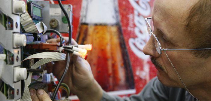 Servicetechniker bei Coca-Cola
