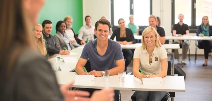 Studenten an der Uni