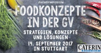 Fachsymposium Foodkonzepte in der GV – Jetzt anmelden!