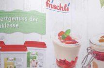 Montage von Frischli-Produkten und Frischli-Logo