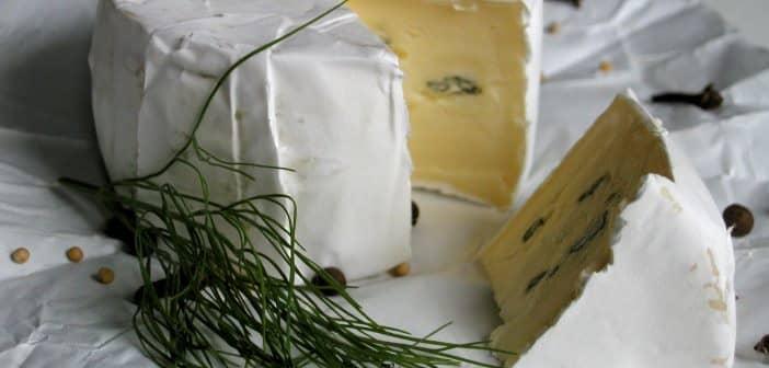 aufgeschnittener Camembertkäse