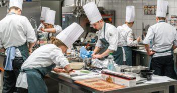 Training des Junior Teams in der Degustationsküche von Transgourmet in Riedstadt.