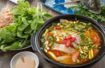 Mahlzeit mit Gemüse und Fisch