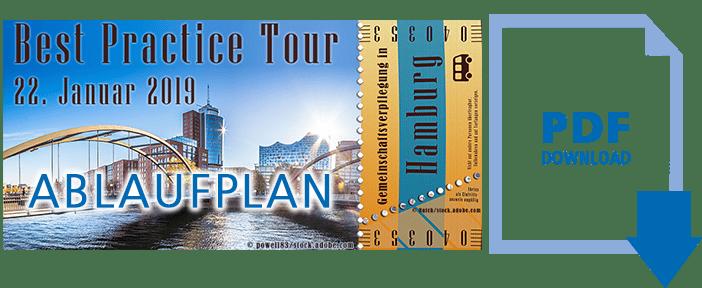 Ablaufplan Best Practice Tour Hamburg