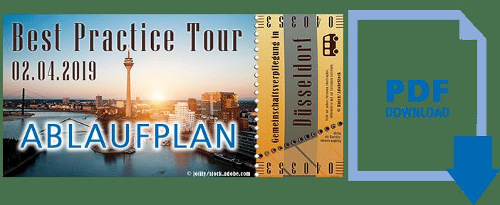 Ablaufplan Best Practice Tour Düsseldorf