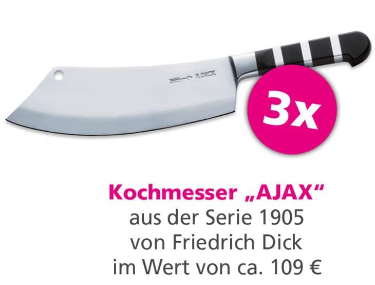 Gewinnspiel AJAX 1905 Kochmesser