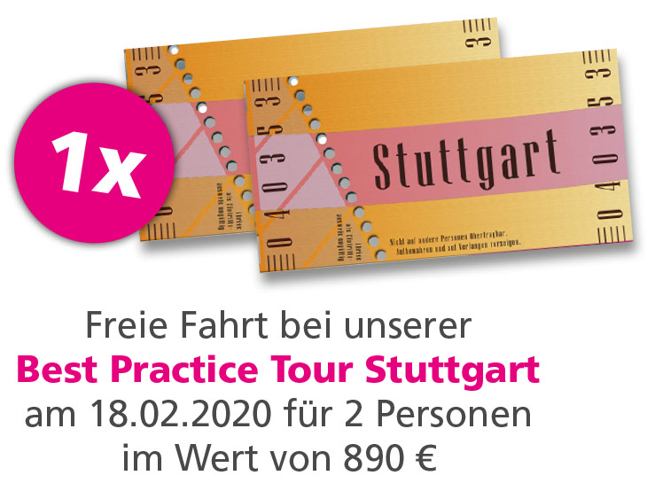 Gewinnspiel Best Practice Tour Stuttgart 2020