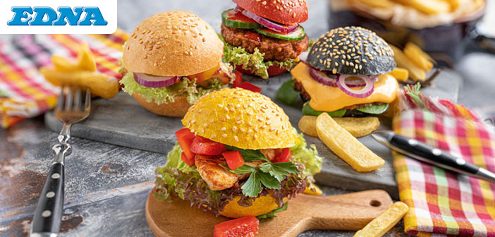 Bunte Party Burger