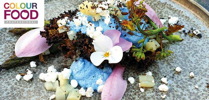 Spargelsalat mit blauer Espuma