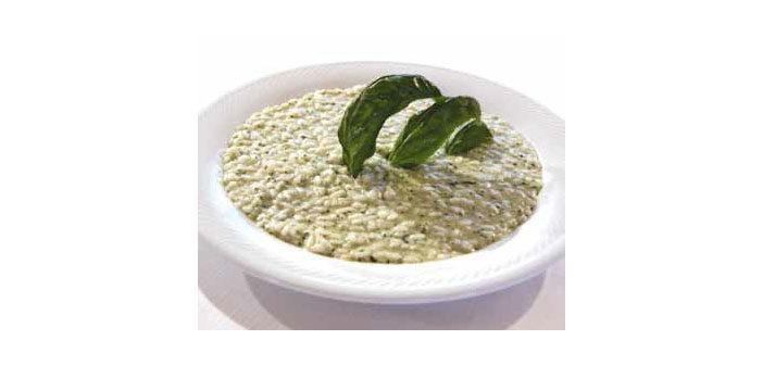 Basilikum-Risotto
