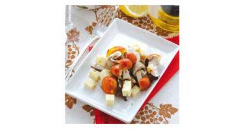 Salat mit Kaiserling und Steinpilz