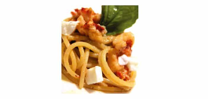 Spaghettoni di Gragnano mit Hummer und Büffelmozzarella