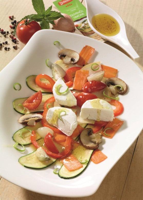 Gemüse-Carpaccio mit Ziegenfrischkäse